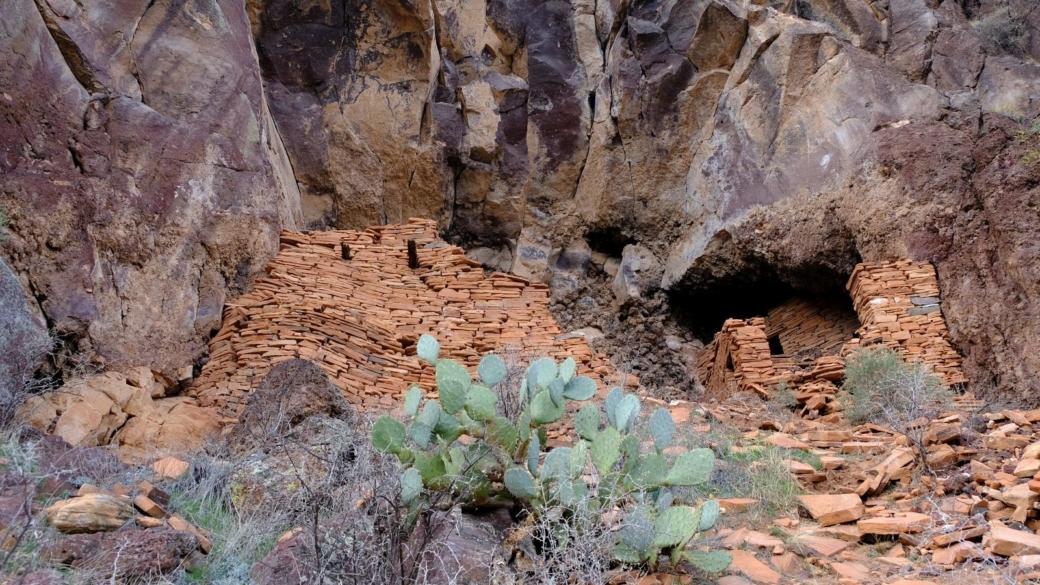Vue d'ensemble des ruines de Sycamore Canyon, près de Sedona, dans l'Arizona.