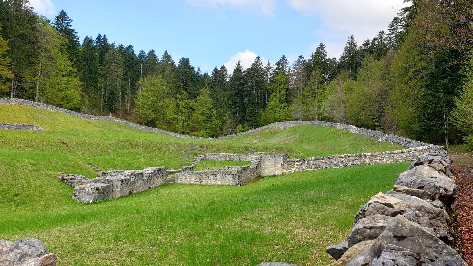 Ruines d'Oujon - Arzier-Le Muids - Vaud - Suisse