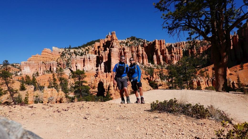 Stefano et Marie-Catherine à Bryce Canyon, début novembre 2019.