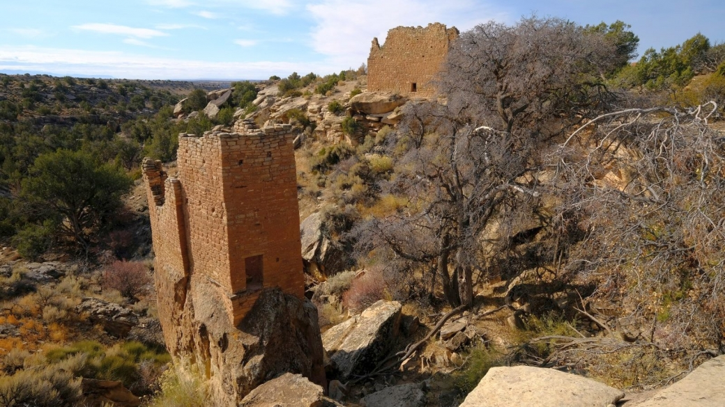 Holly Tower, dans le complexe de ruines de Holly Group, à Hovenweep National Monument.