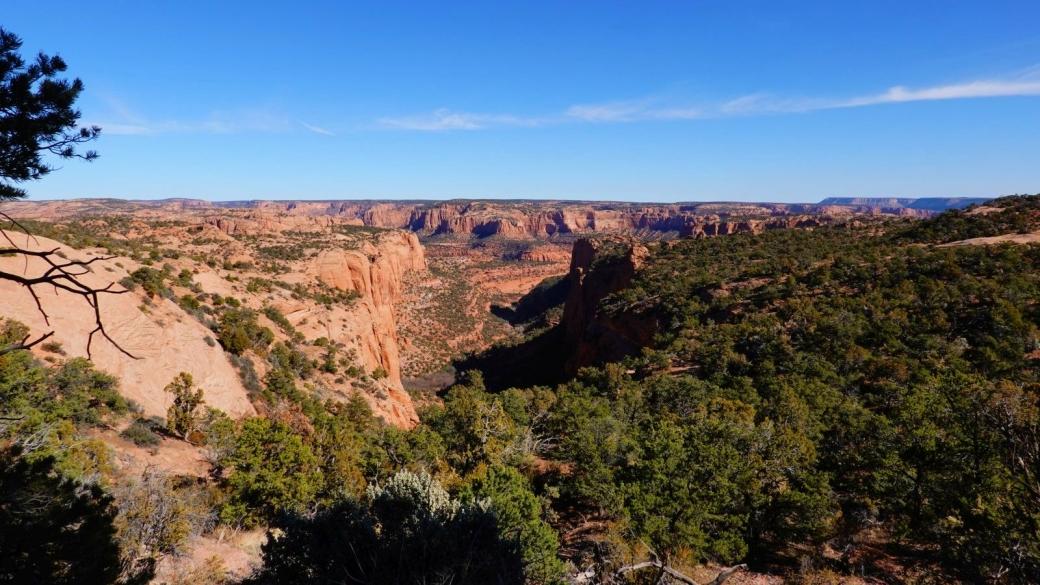 Emptiness... Vue sur les canyon du Navajo National Monument.